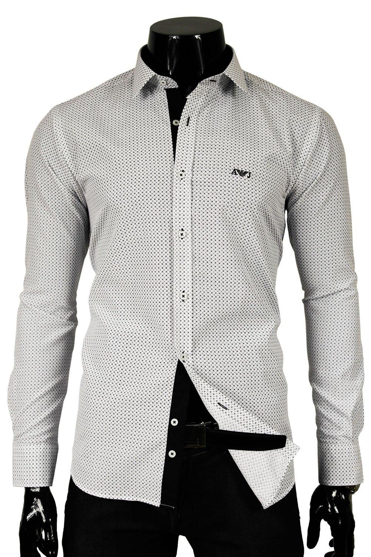 Armani Jeans Pánská košile bílá AM15T Klikněte pro ... a8a14c4c99