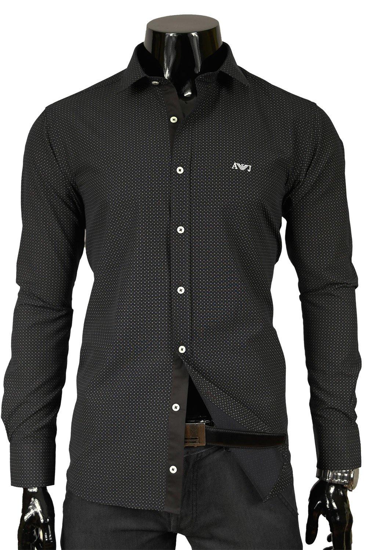 Armani Jeans Pánská košile černá AM15T Klikněte pro ... 38916a8568