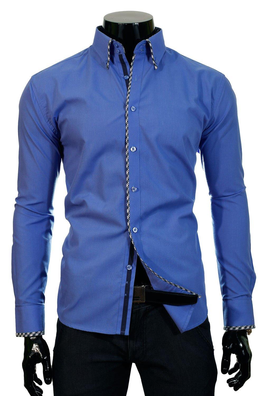 a934e0c0b1d BP 11T Modrá pánská košile Klikněte pro ...