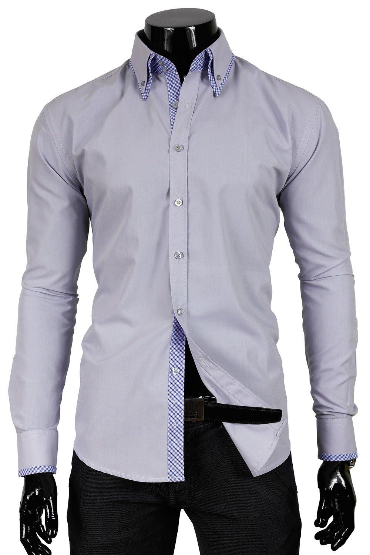30742f39340 BP 12w Šedá pánská košile Odstín šedé a stříbrné.
