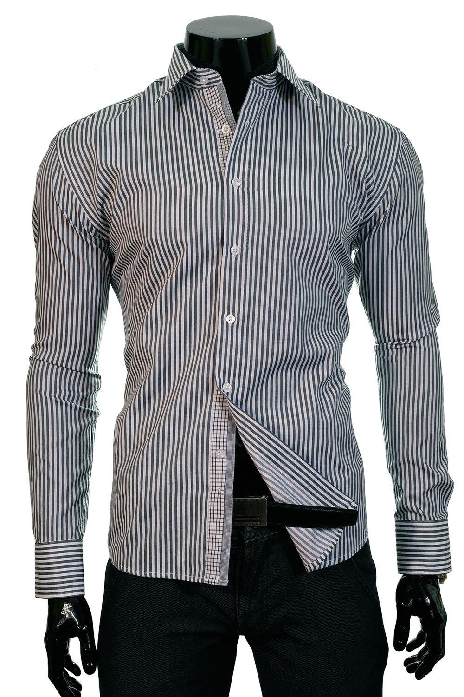 2dd2aaa4bce BP 17FB Pánská proužkovaná košile černá Klikněte pro ...