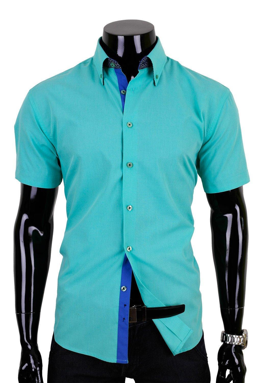 Pánská luxusní tyrkysová košile Klikněte pro ... a09f8cc7a5