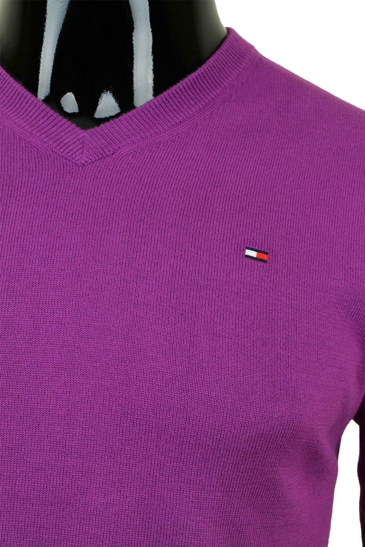 Tommy Hilfiger v-neck N33 fialový  fdc3fd2d22